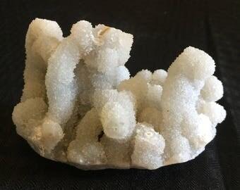 Chalcedony with druzy stalagmites