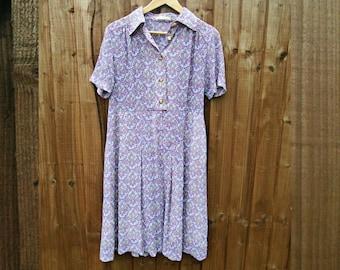 Vintage Dress - Knee Length - 1980's Vintage - Summer Dress - Summer Vintage