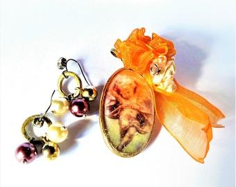 set earrings and pendant vintage