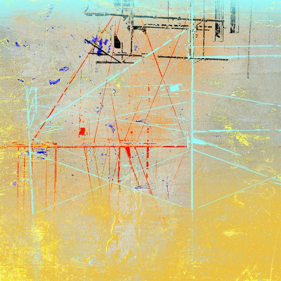 The Sky is Not Always Above You,holiday print sale, affordable art, fine art print,iskra fine art, abstract print,linear art,collage art