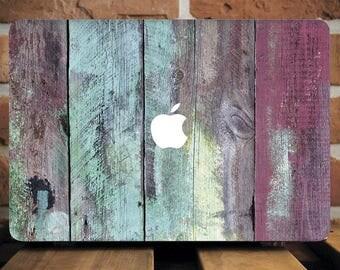 Colorful Wood Macbook Pro Hard Case Macbook Pro Case Macbook Air Case Macbook Air 13 Hard Case Macbook Air Hard Case Laptop Cover WCm174