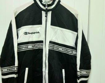 Rare Vintage CHAMPIONS PRODUCT Sweater Colour Block Size M Medium