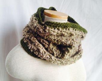 Crochet PATTERN - crochet cowl pattern, easy cabled crochet cowl pdf, easy crochet pattern, cabled scarf crochet pattern, easy cowl pattern