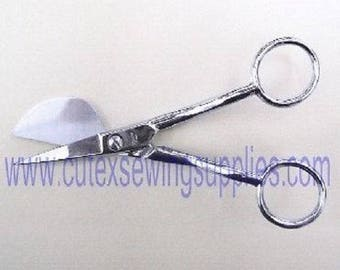 "Offset Handle Applique Scissors 5-7/8"" Length with Duck Bill"
