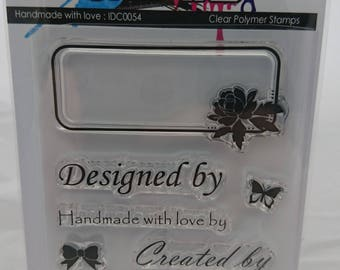 Handmade with love A7 stamp set by Kerri-Ann Briggs for Imagine Design Create