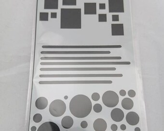 Circles & Squares Stencil / Mask by Imagine Design Create