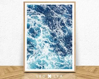 Sea Wall Art, Waves Print, Ocean Print, Sea Print, Beach Wall Decor, Blue Wall Art, Ocean Wall Art, Sea Art, Water Waves, Sea Printable