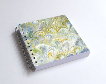 "Notebook 4x4"" decorated with motifs of marbled papers - 17"