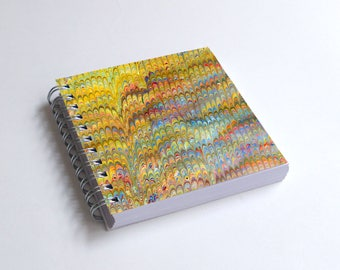 "Notebook 4x4"" decorated with motifs of marbled papers - 13"