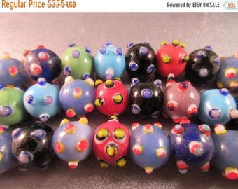ON SALE 15% OFF Lampwork Glass Round Beads 30pcs
