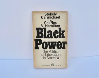 BLACK POWER by Stokely Carmichael and Charles V Hamilton 1967 Paperback Book