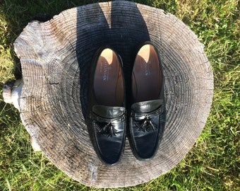 Vintage Loafers // Made in USA // All Leather Loafers // Bostonian Loafers // Hand Sewn Loafers // Loafers Size 12