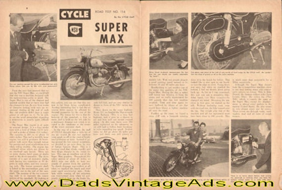 1961 NSU Supermax Road Test 3-Page Article #e61aa09