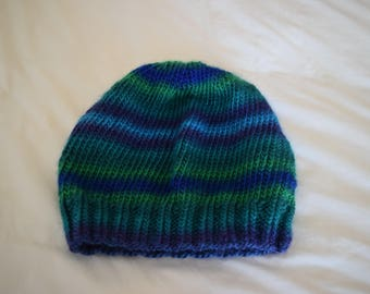 Blue and Green Ombre Slouch Hat