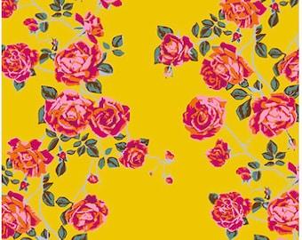 Floral Retrospective Fabric ~ Social Climber Gold by Anna Maria Horner for Free Spirit Fabrics