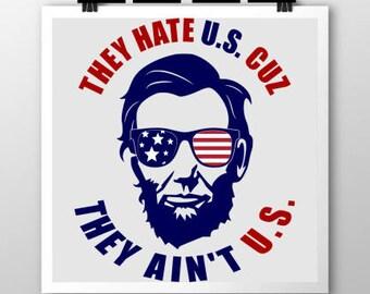 Patriotic Abe Lincoln SVG