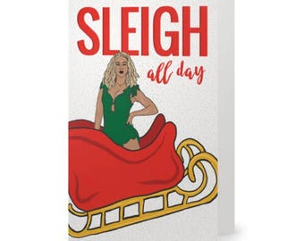 BEYONCE SLAY Christmas Card  |  Holiday Card  |  Funny Christmas Card