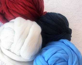 Super chunky yarn,Super bulky Merino, Extreme arm knitting yarn for blanket, Chunky wool, thick wool, giant knit DIY Knitting Yarn