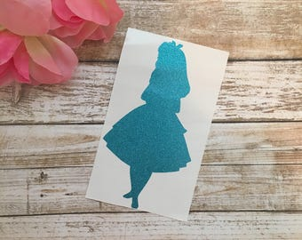 Alice In Wonderland Decal / Disney Decal / Alice Silhouette Decal