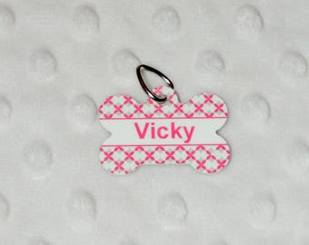 Vicky Medal for customizable dog identity medallion, pet tag, dog shaped bone