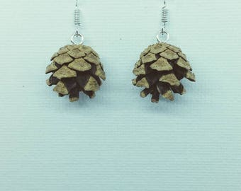 Fir Cone Earrings, made from real Scandinavian Fir Cones