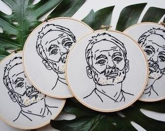 Bill Murray #embroidmurray (Embroidery Hoop)