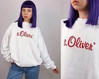S. OLIVER Vintage 90's Oversized Unisex Logo Sweatshirt / Jumper | Size S-L