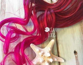 Red Hair Extensions, Hair extensions clip in, Ombre hair extensions, Pink hair, Mermaid Hair, Ombre Hair, Human Hair
