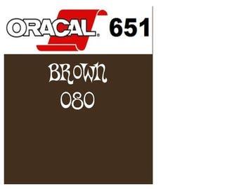 Oracal 651 Vinyl Brown (080) Adhesive Vinyl - Craft Vinyl - Outdoor Vinyl - Vinyl Sheets - Oracle 651
