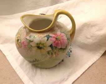 Nippon hand painted pitcher