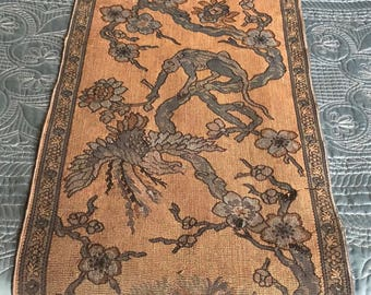Arts & Crafts Period Woven Reversible Table Runner