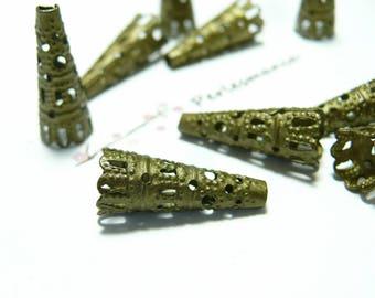 10 filigree cones bronze ref 6603