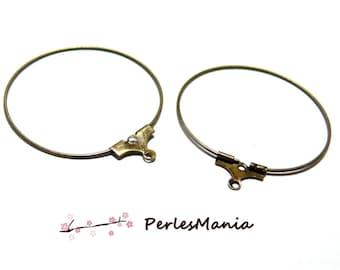 PAX 50 Creole hoop EARRINGS 30 mm BRONZE earrings