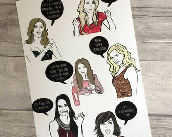 Beverly Hills- Real Housewives inspired Illustration/Art Print