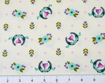 """Tula Pink """"Slow & Steady"""" by Free Spirit ~ Winners Circle ~ Blue Raspberry PWTP089 ~ By The Half Yard ~"""