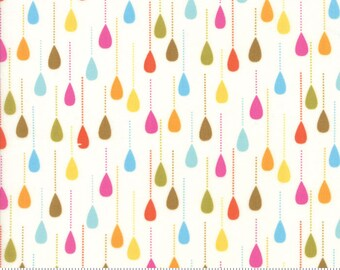 "Moda ""Wing & Leaf"" by Gina Martin ~ Raindrops ~ Cloud 10064 11 ~ By The Half Yard ~"