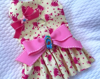 Pink Crap dress for a dog