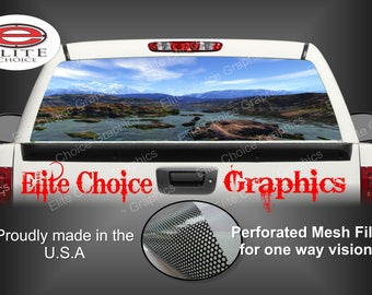 Mountain Stream Rear Window Graphic Tint Decal Sticker Truck SUV Van Car