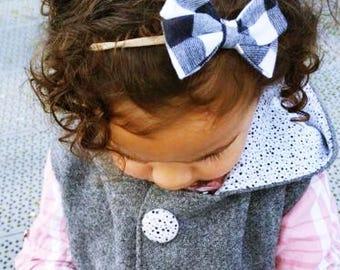 Newborn baby toddler girls headband bow accessories