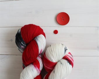 Fire and Blood - Game of Thrones themed hand dyed yarn - lace weight - 100g -merino wool - Targaryen