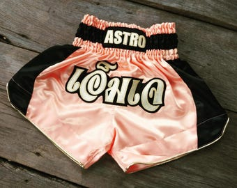 New Custom Muay Thai Boxing Shorts Martial Arts - Light Pink