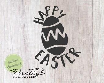 Happy easter | Easter |  easter egg svg SVG |  Cut File | easter svg | Easter SVG file | svg files for cricut