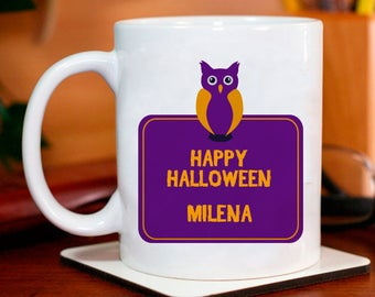 Haunted Themed Happy Halloween Personalized Mug