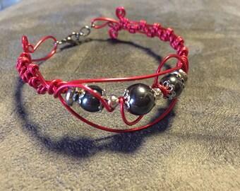 Fancy Red aluminum bracelet