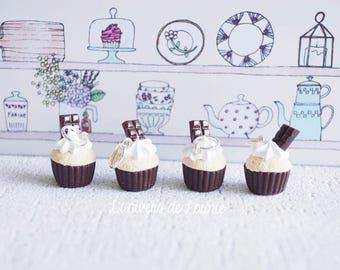 4 stitch markers knitting Cupcake chocolate bar
