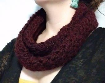 Crochet Fall Infinity Scarf