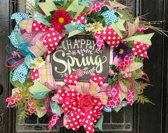 Happy Spring Wreath