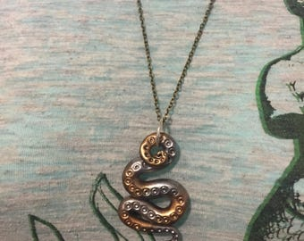 Silver Gold Tentacle Necklace