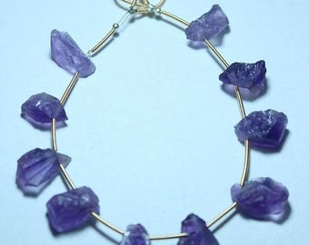 80% OFF SALE Amazing Natural African Amethyst Rough Beads 10 Pieces