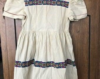 Vintage dress with trim
